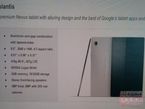 Htc Nexus 8 Tablet Sızdı